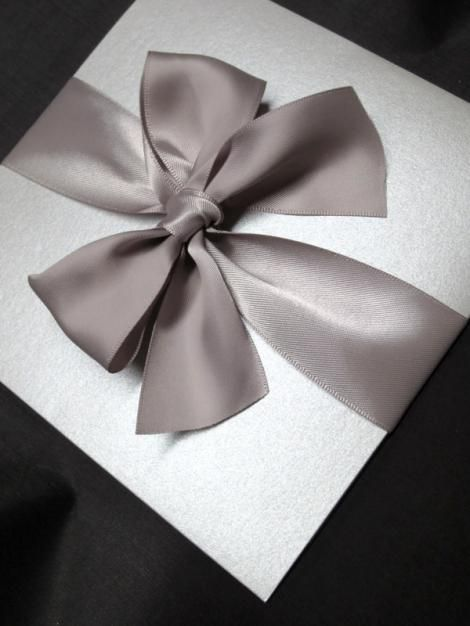 Silver Folio With Satin Bow by Clover Creek