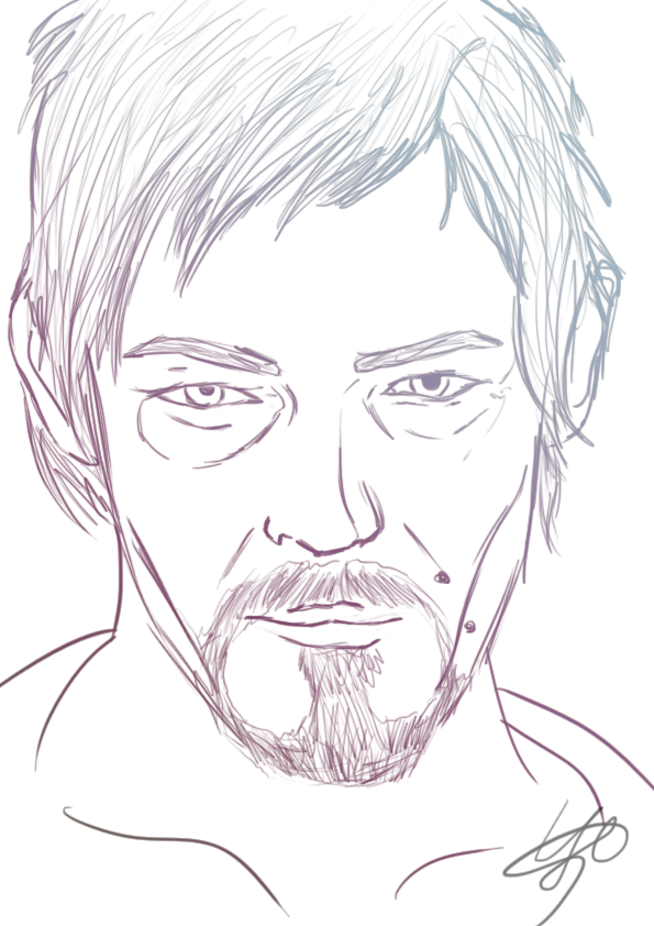 The Walking Dead Daryl Coloring Pages Easy Daryl Dixon Drawing