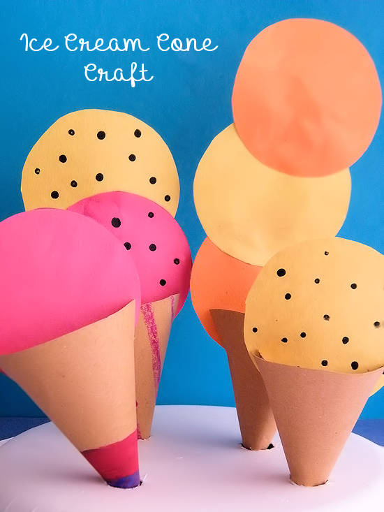 paper plate ice cream craft cone craft with paper plate stand a summer 7023