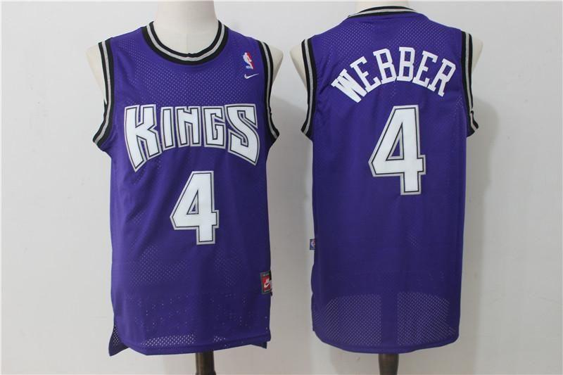 d12a8bf2614 ... new style men 4 chris webber jersey purple sacramento kings swingman  jersey dd39a 2e3b8