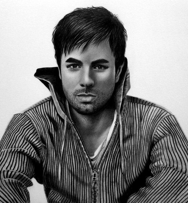 Enrique By Angelasportraits On Deviantart Drawing People Celebrity Portraits Portrait