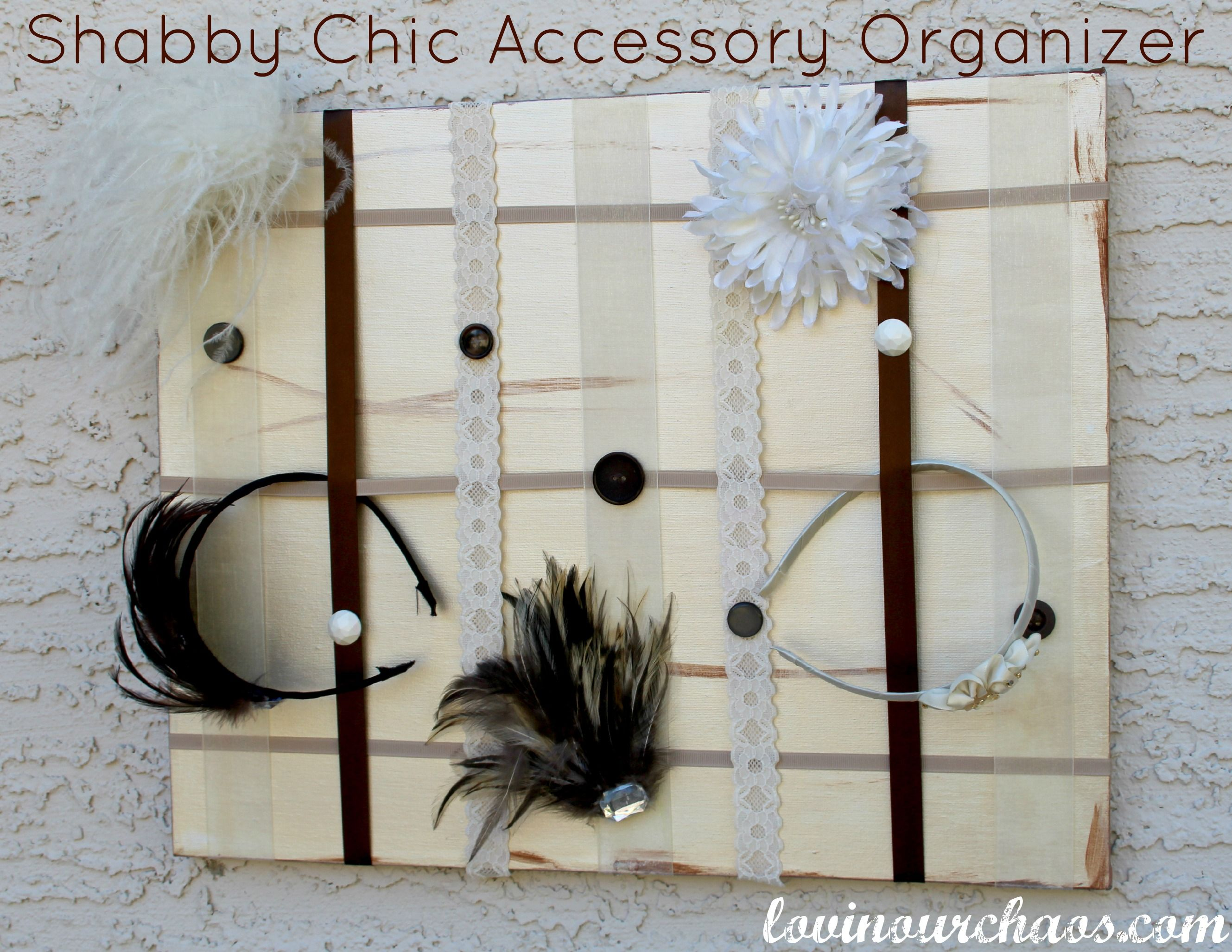 Shabby Chic Accessory Organizer from Lovin Our Chaos Roll top