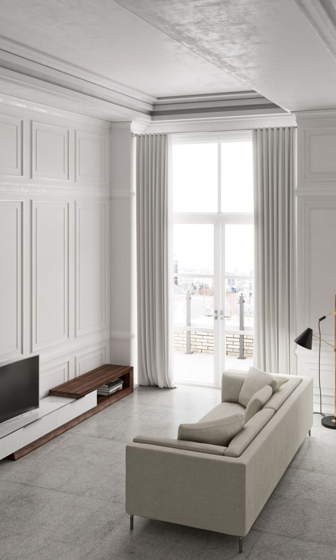 Panels  high ceilings love  mind that is stretched by new experience can never go back to its old dimensions xx also this space has right sided visual weight so it  asymmetric rh pinterest