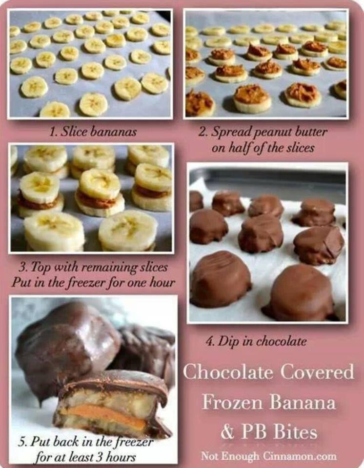 Chocolate Covered Frozen Bananas & PB Bites