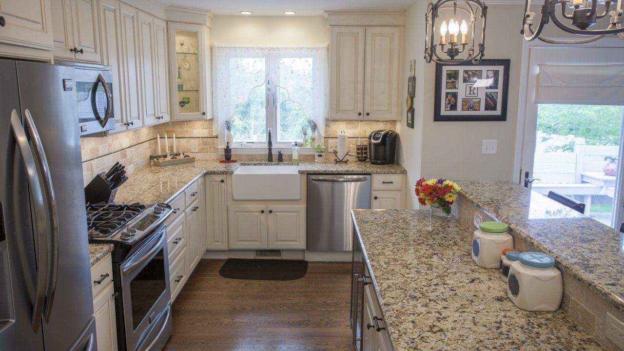 Giallo Napole Granite Kitchen Countertop with A Dual Layer ...