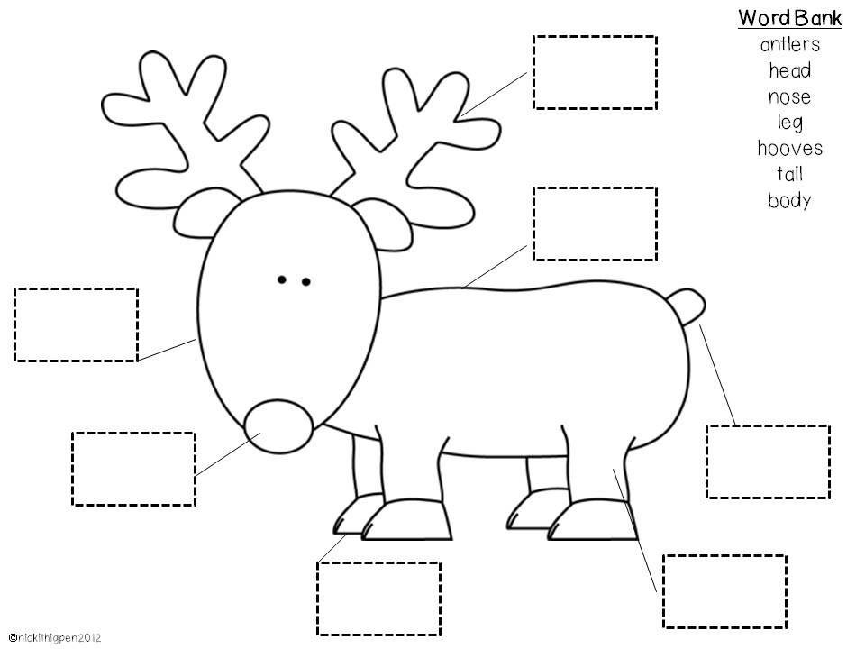 reindeerlabeljpg (960×720) Christmasho ho ho! Pinterest