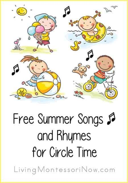 Free Summer Songs And Rhymes For Circle Time Summer Songs