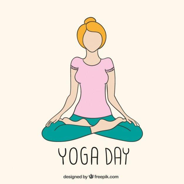 Dibujo día Yoga Vector Gratis | Natural y ecológico - vector ...
