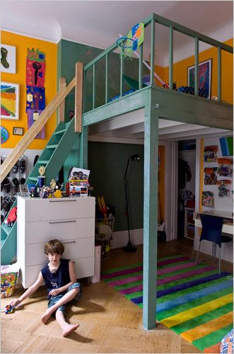 the bedroom of ms. bell's son, will simotas, was once part of a ... - Transformer Son Garage En Studio