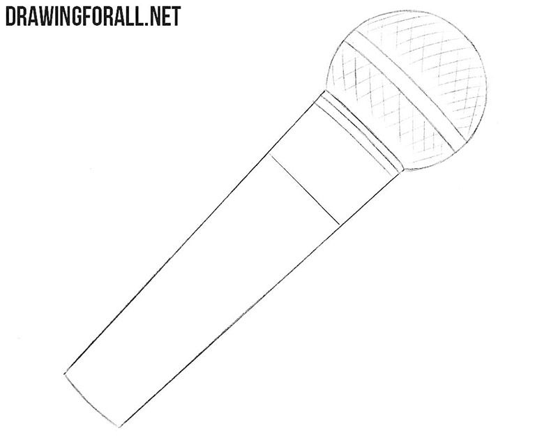 How To Draw A Microphone Drawingforall Net Draw Microphone Microphone Drawing