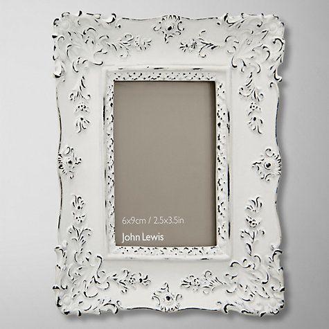 Buy John Lewis French Photo Frame, White, 2.5 x 3.5 (6 x 9cm) Online ...