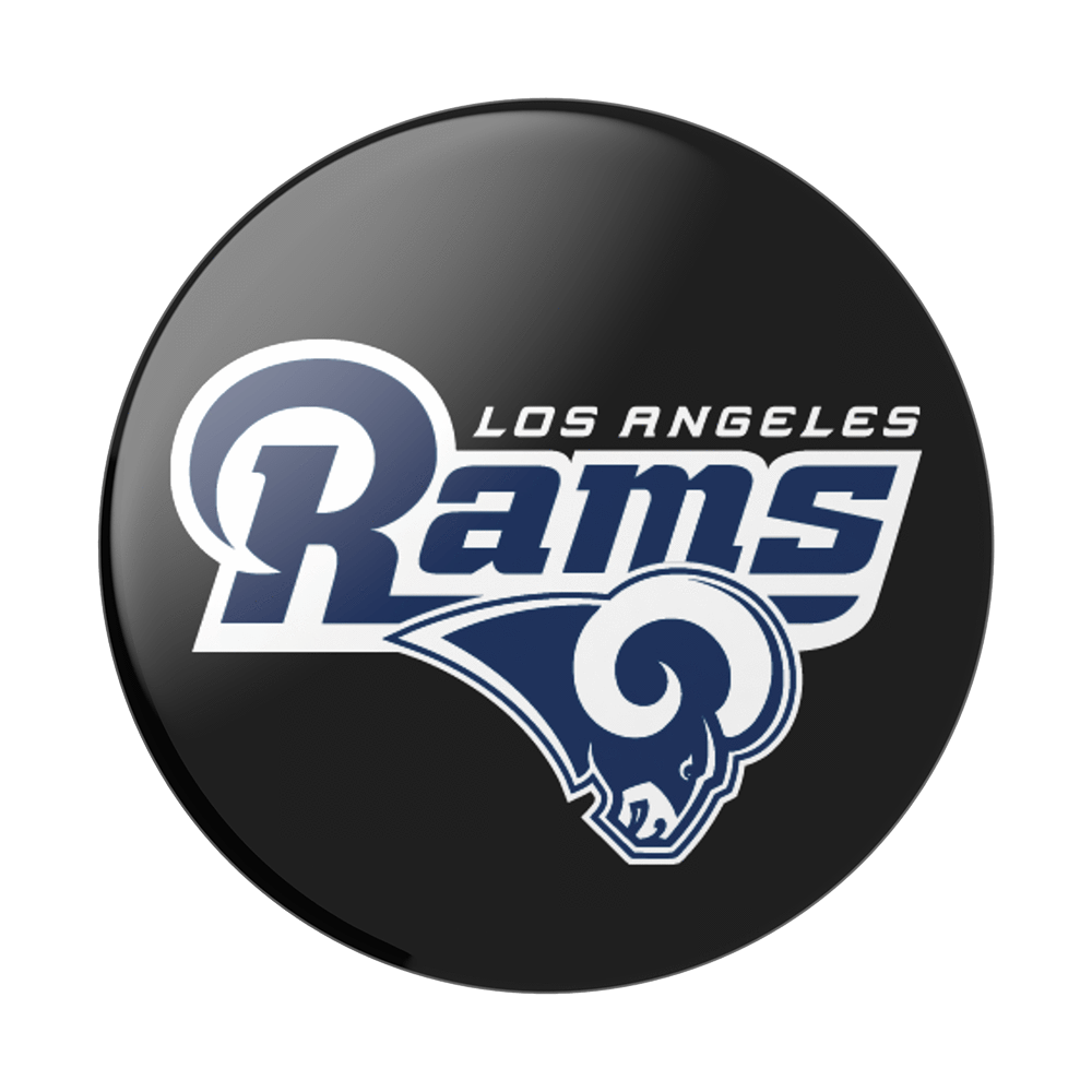 PopSockets Los Angeles Rams Logo Phone Grip In Black