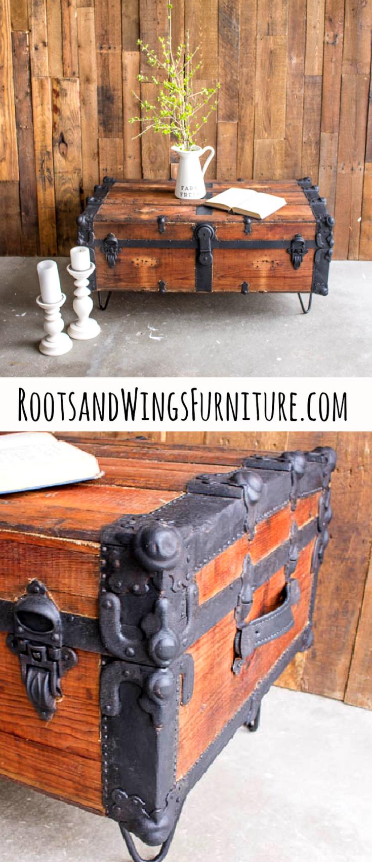 steamer trunk coffee table fun craft ideas chest furniture rh pinterest com