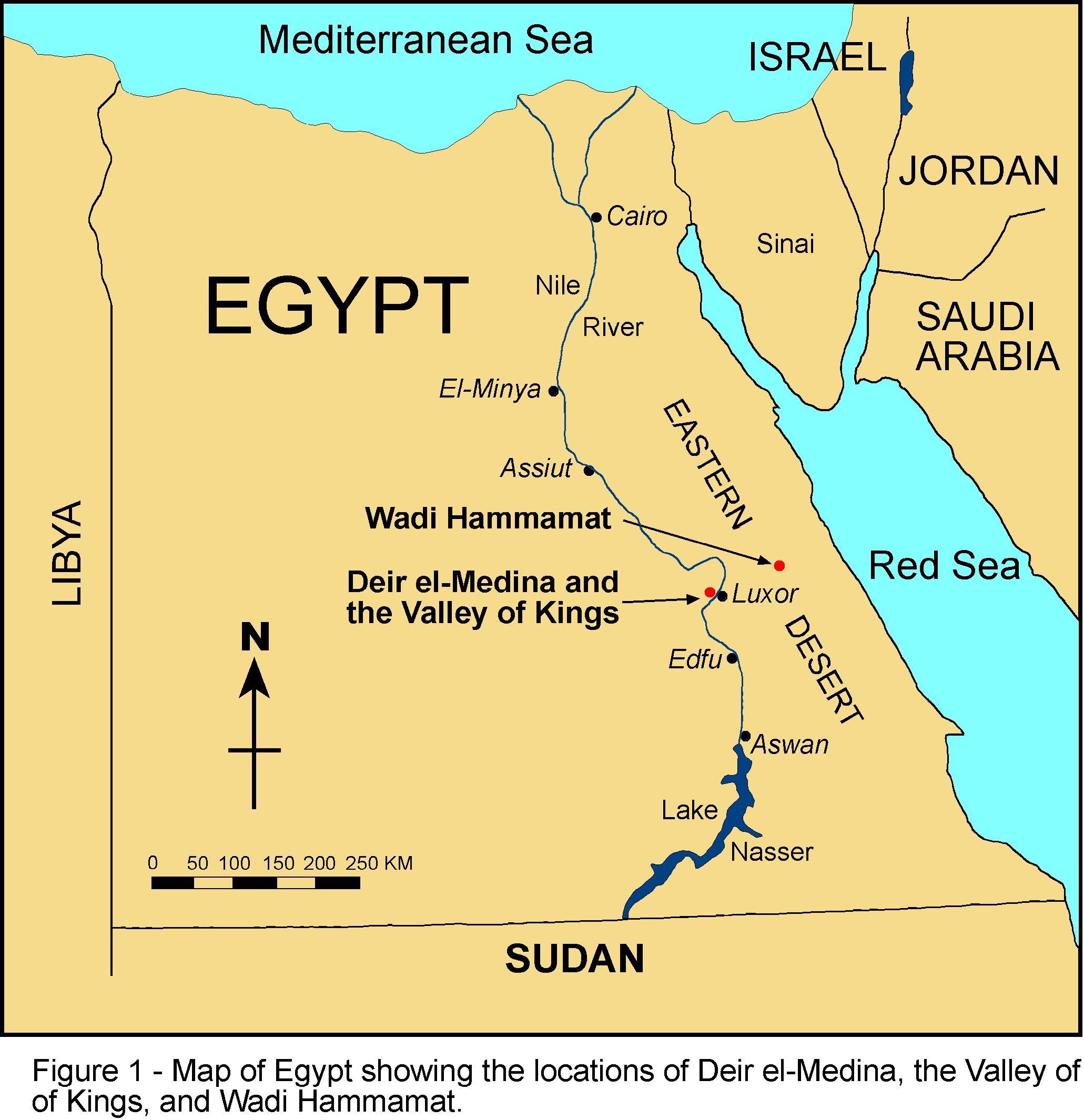 Large Based Map Of Egypt Egypt Large Based Map