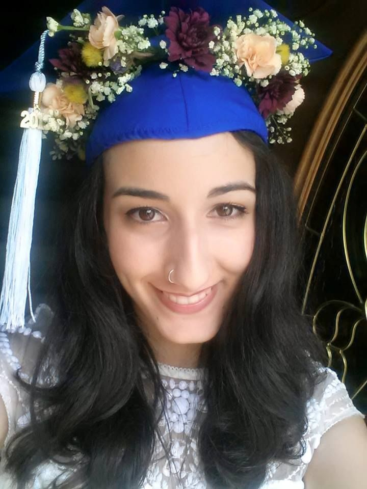 Fresh Flower Crown Graduation Cap College Graduation