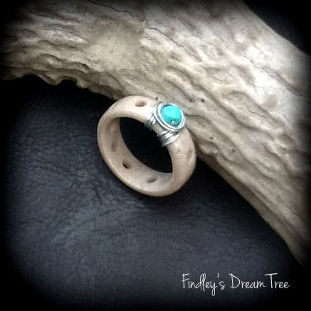 REAL Deer Antler Ring made from deer antler shed any size