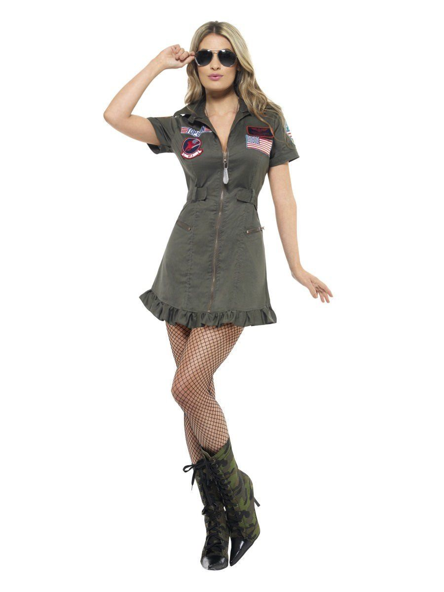 121525c56c830 Top Gun Deluxe Ladies Costume | Smiffys.com - Smiffys Fancy Dress