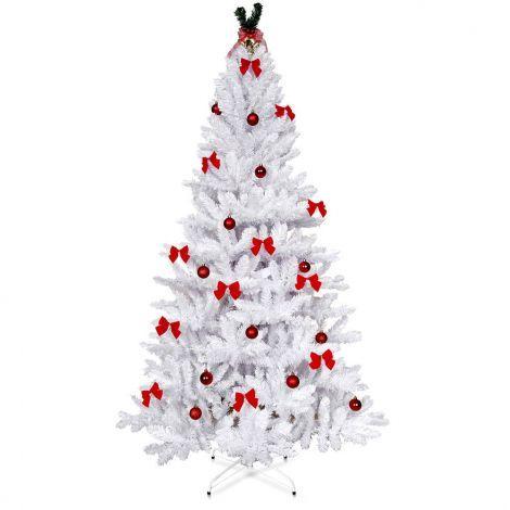 1.8 Metre Christmas Tree 6ft Metal Frame Plush Realistic Easy ...