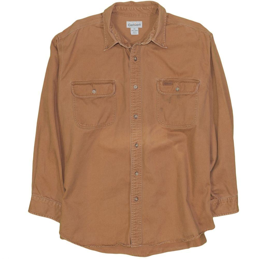 f9000654eb2 Vintage Carhartt Men s X-Large Shirt 100% Cotton Twill Work Wear Button  Down