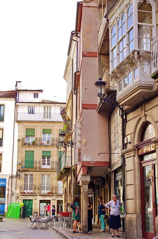 Ourense Orense - Galice - Espagne - 074 Rúa Santo Domingo - Praza do Ferro