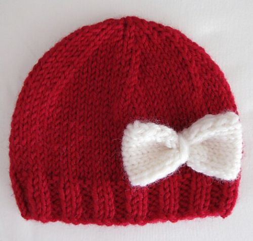 Preemie Hat with Bow pattern by White Daisy Designs | Bow pattern ...
