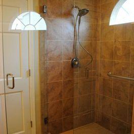 Traditional Bathroom Remodel With Porcelain Tile FloorsShower By - Hatchett bathroom remodel