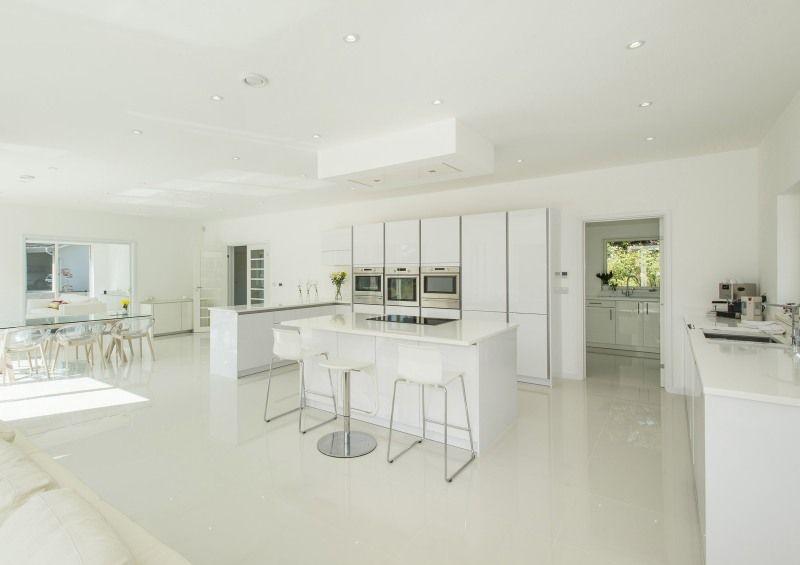 Timber Frame contemporary bespoke home design. White open plan ...