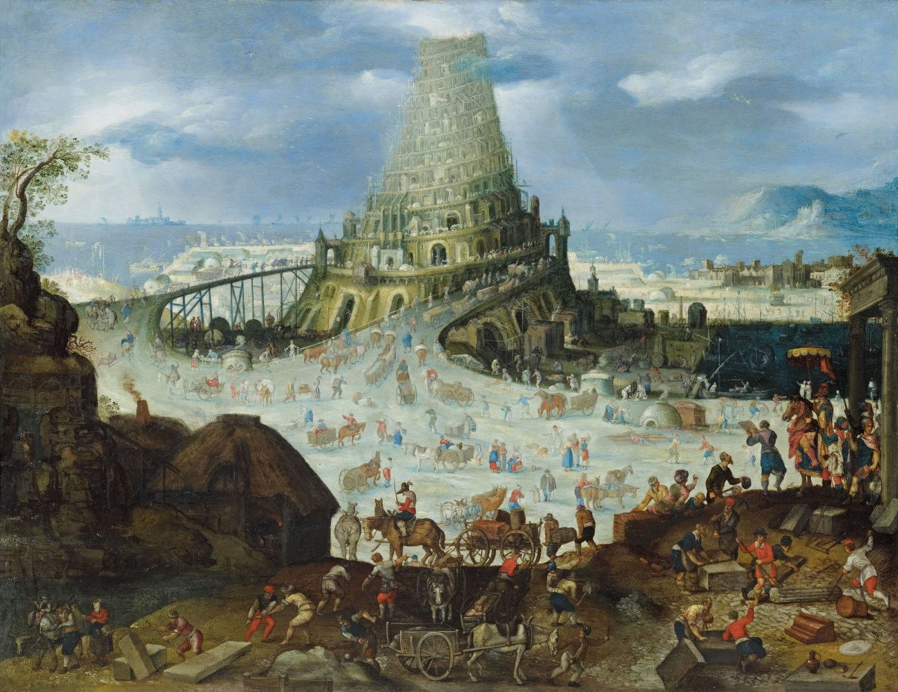 The  Tower Of babel  painting -