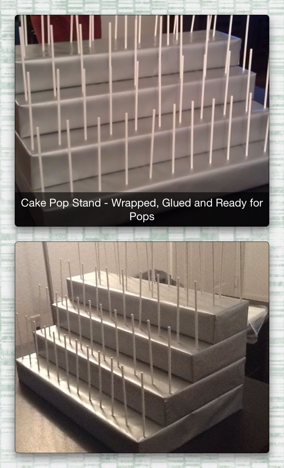 Completed 4 Tiered Cake Pop Stand With Images Diy Cake Pops
