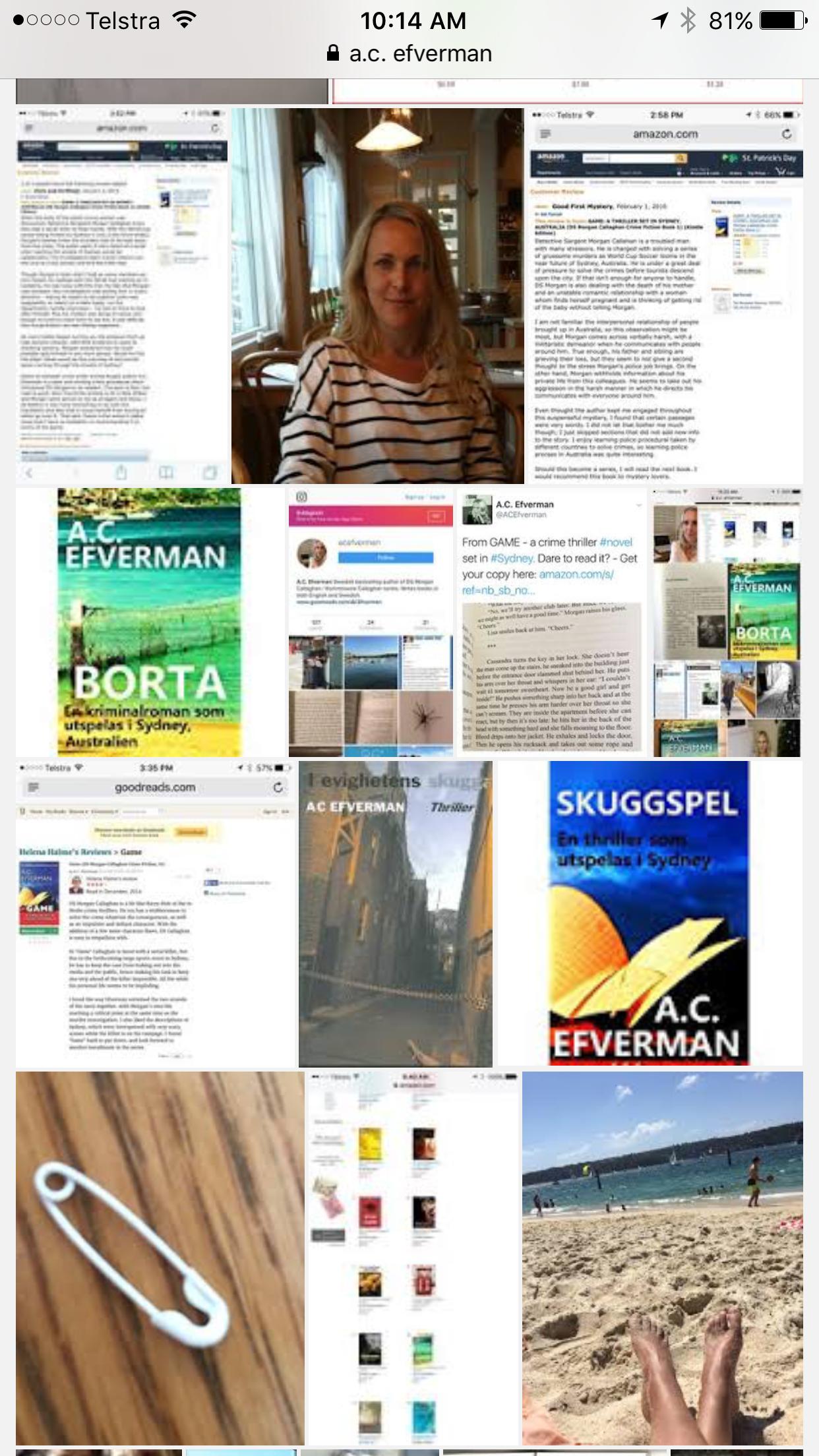 Ac Efverman Swedish Crime Fiction Author Based In Sydney, Australia  #books #swedish