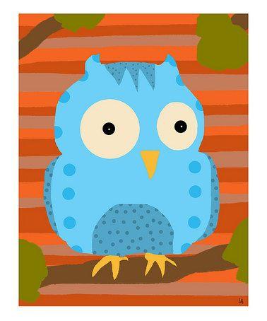 'Big Blue Owl' (illustrator unknown)