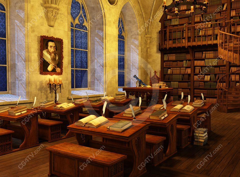 Harry Potter Style Library Virtual Set Professionally
