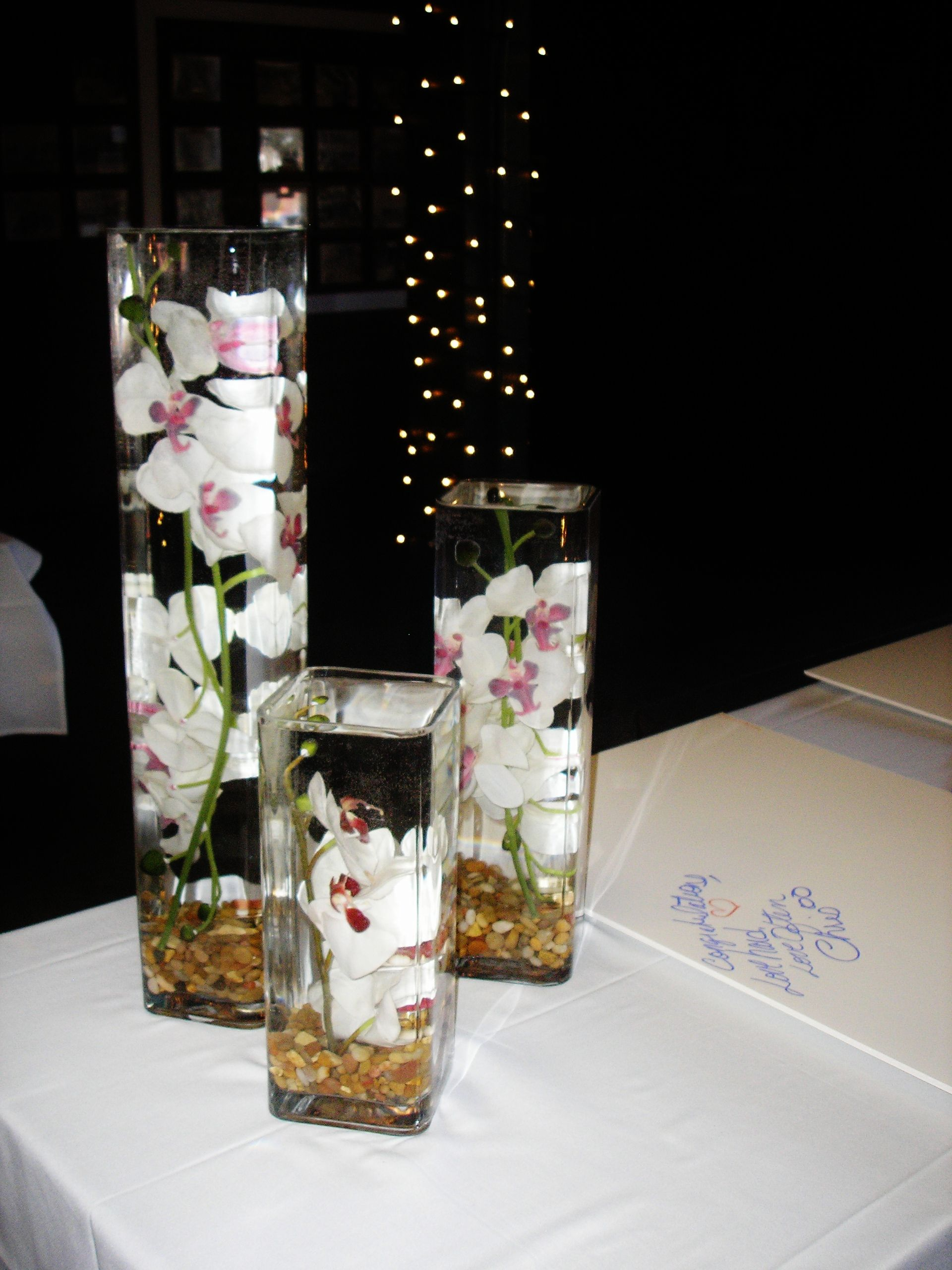 Floating Flowers at your sign in table Floating