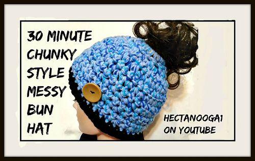 FREE CROCHET PATTERN, MESSY BUN HAT, | messy bun hat | Pinterest