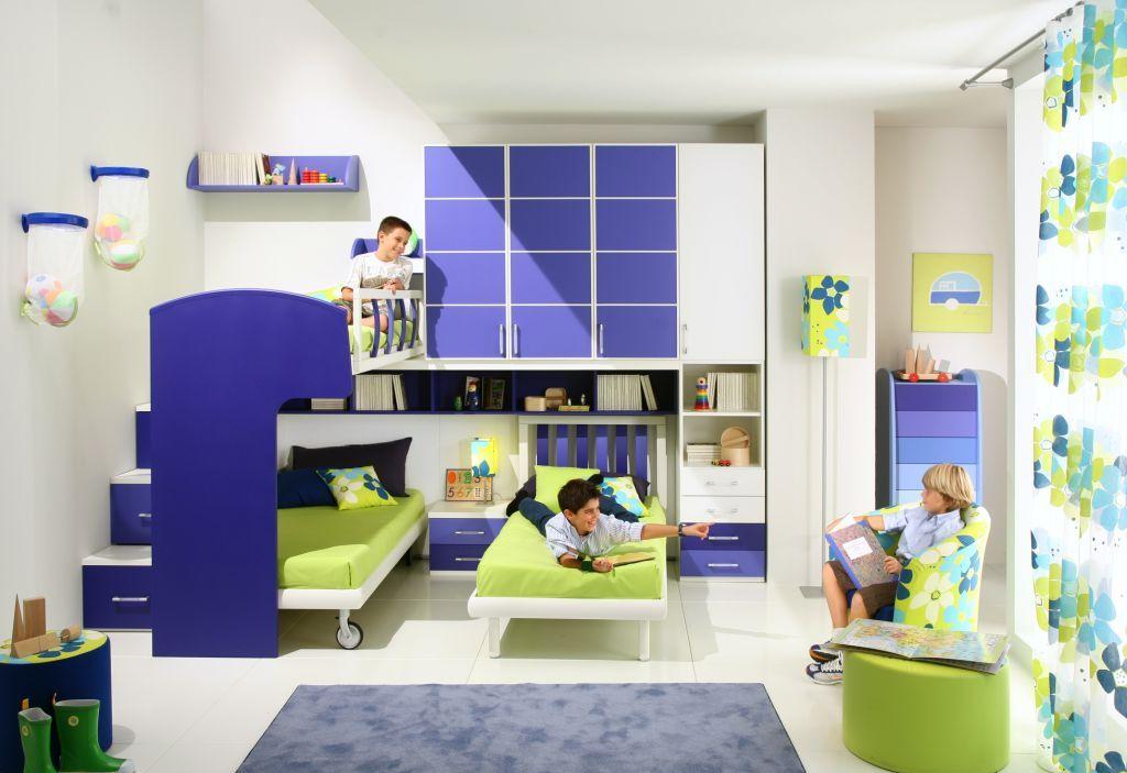 dormitorio para nios y camas triples via