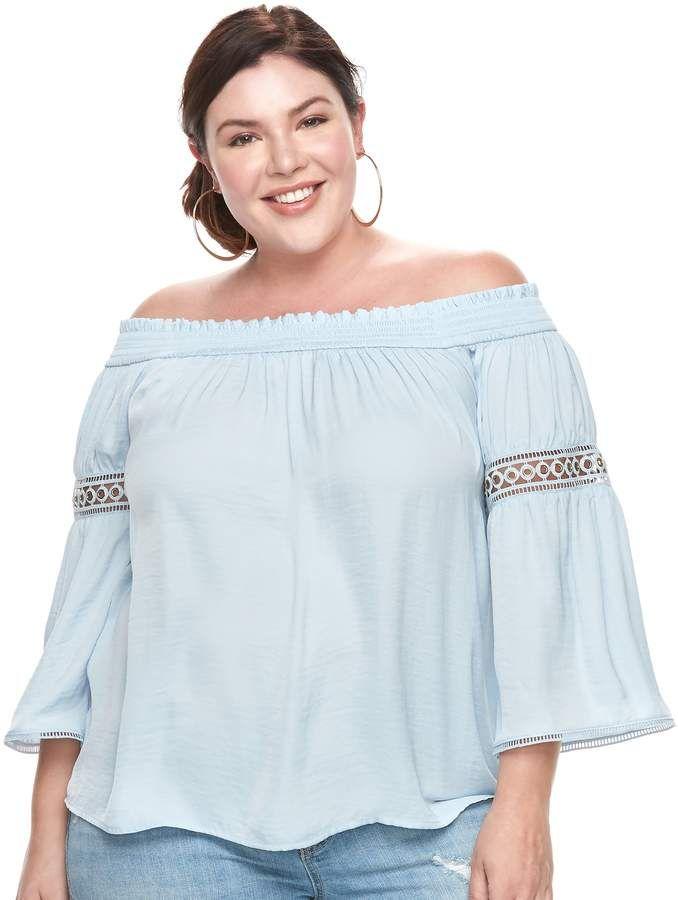 34338c34072a5 JLO by Jennifer Lopez Plus Size Off-The-Shoulder Top