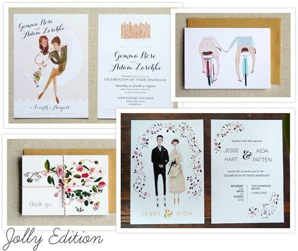 Illustrated Wedding Invitations Handmade Wedding Invitations