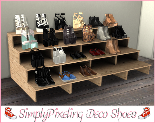 Simplypixeling deco shoes conversion ts3 to ts4 3 for Home design deko shopping