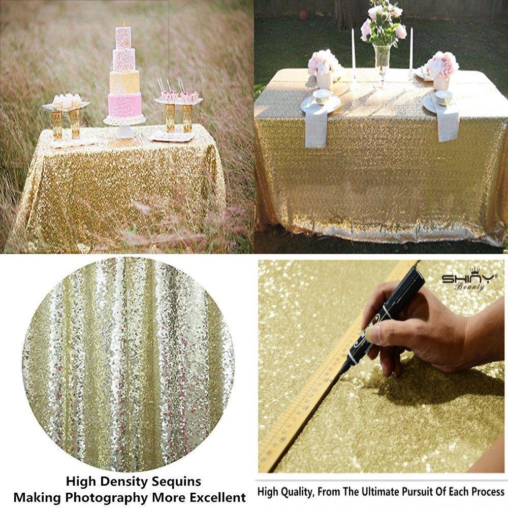 light gold 60x102 rectangle wedding table linen cloth fabric sequin rh pinterest co uk