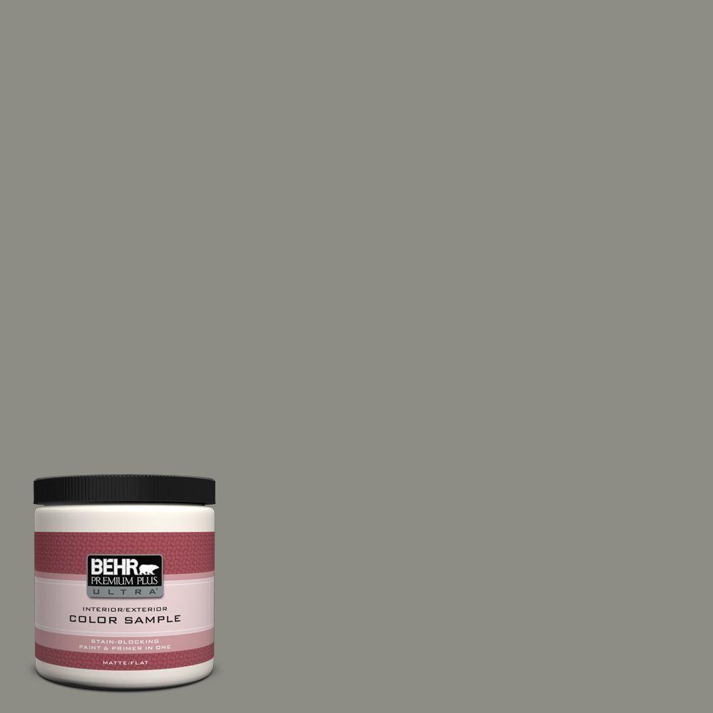 Behr Premium Plus Ultra 8 Oz N370 5 Incognito Matte Interior Exterior Paint And Primer In One Sample Exterior Paint Behr Marquee Paint Paint Samples