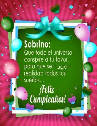 Tarjetas De Cumpleaños Para Mi Sobrino Feliz Cumpleaños Sobrino Tarjeta Feliz Cumpleaños Sobrina Feliz Cumpleaños Sobrino Frases