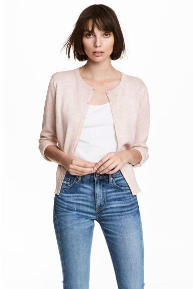 Cotton cardigan - Powder pink marl - Ladies | H&M GB | Outfits ...