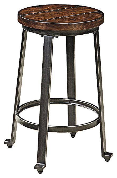 amazon com ashley furniture signature design challiman bar stool rh pinterest ca