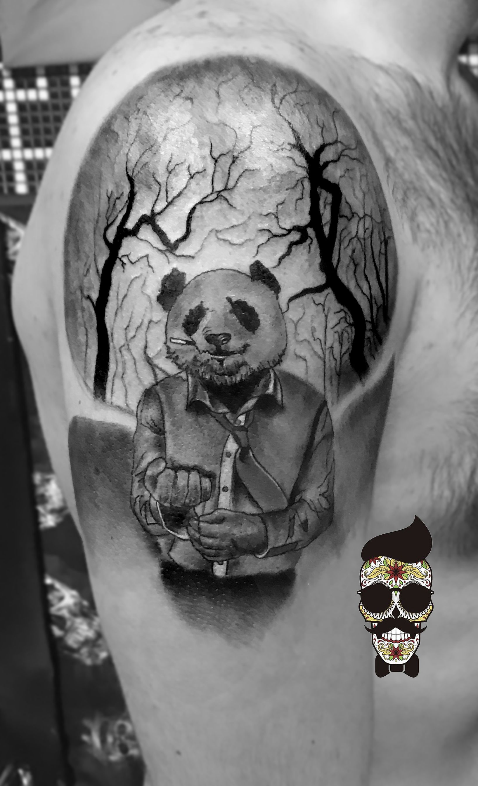 Tattoo Arte Leon Telefono Panda Tattoo Tree Tattoo Futuros Tatuajes Tattoos Calf