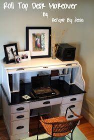 designs by sessa roll top desk makeover desk desk makeover rh pinterest com