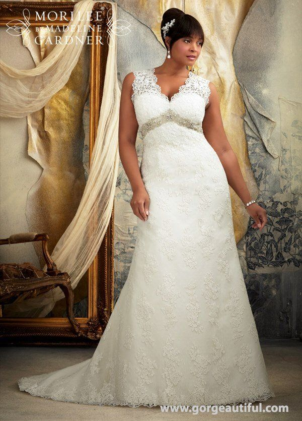 Cool Plus Size Lace Wedding Dress A Line Julietta by Mori Lee