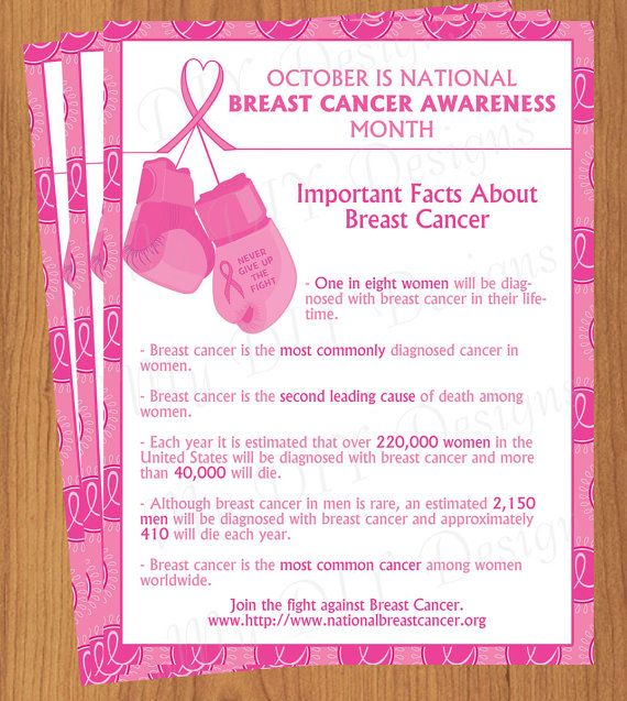 Boxing Gloves Breast Cancer Awareness Flyer  Flyer Outline