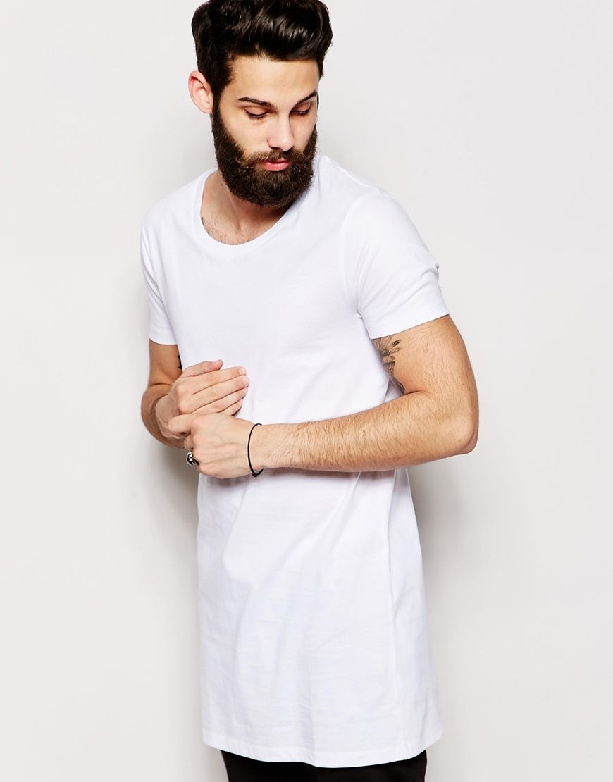 ASOS Super Longline T-Shirt With Scoop Neck And Relaxed Skater Fit