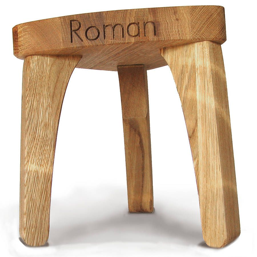 Marvelous Personalised Childrens Oak Christening Stool Wood Plans Machost Co Dining Chair Design Ideas Machostcouk