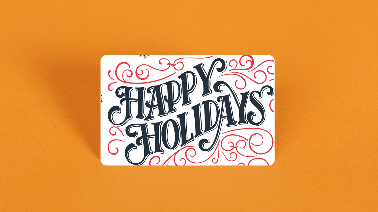 Happy Holidays Gift Card Design Gift Card Design Happy Holiday Gifts Holiday Gift Card